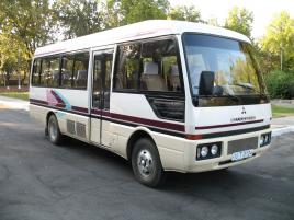 Mitsubishi Rosa Minibus Uzbekistan transfers, transportation services